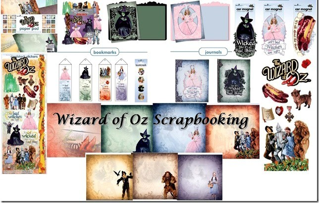 Wizard Of Oz Stationery Scrapbooking Supplies For 2013